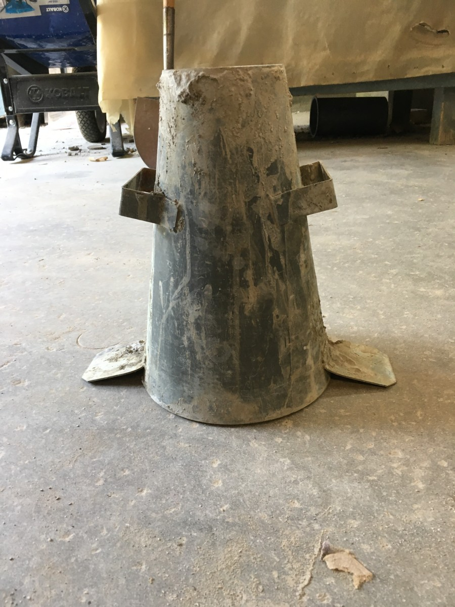 Please clean your slump cones, especially on the inside, or your test results will be thrown off by a change in volume.
