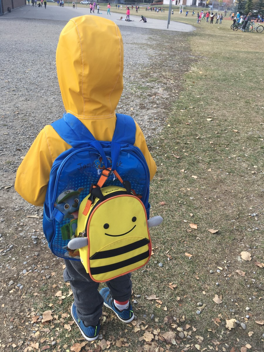 No first day tears for this guy (or mum!) Just excitement for a new learning adventure.