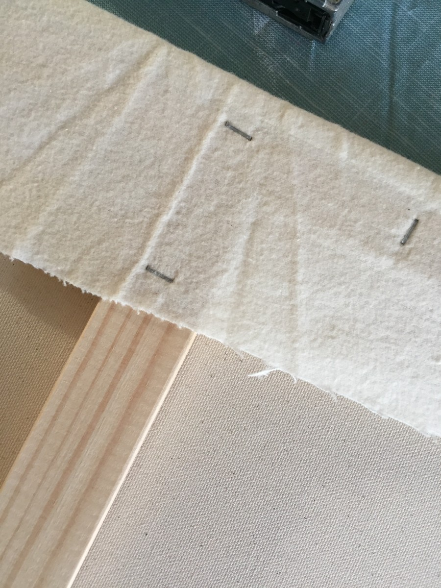 Step 5- Space your staples a few inches apart.