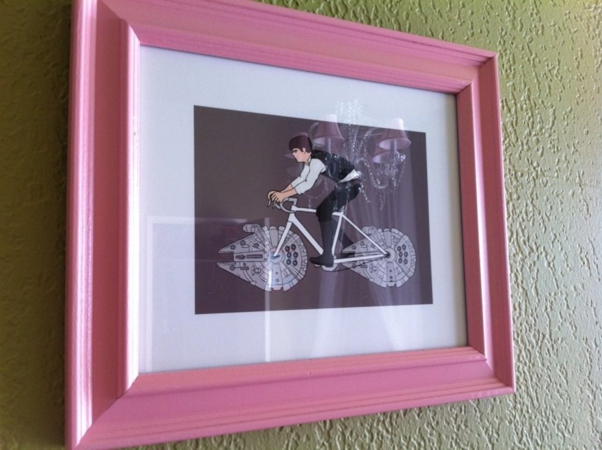 I'm a HUGE fan of my signed Star Wars bike collection by Mike Joos. Han Solo never looked better.