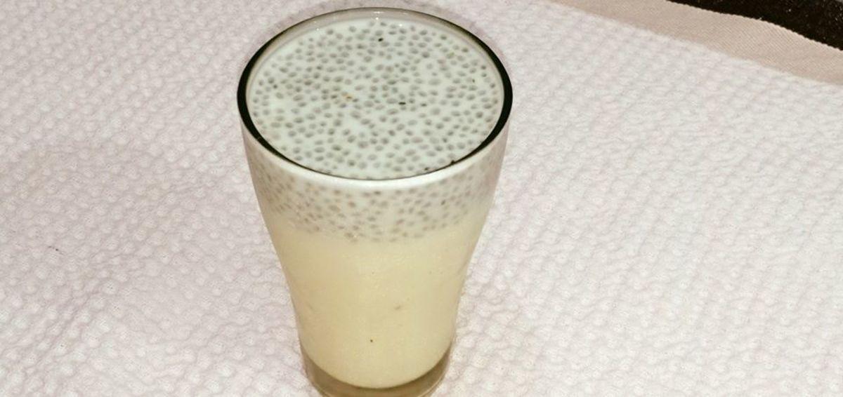 A refreshing milkshake prepared with sabja (basil) seeds