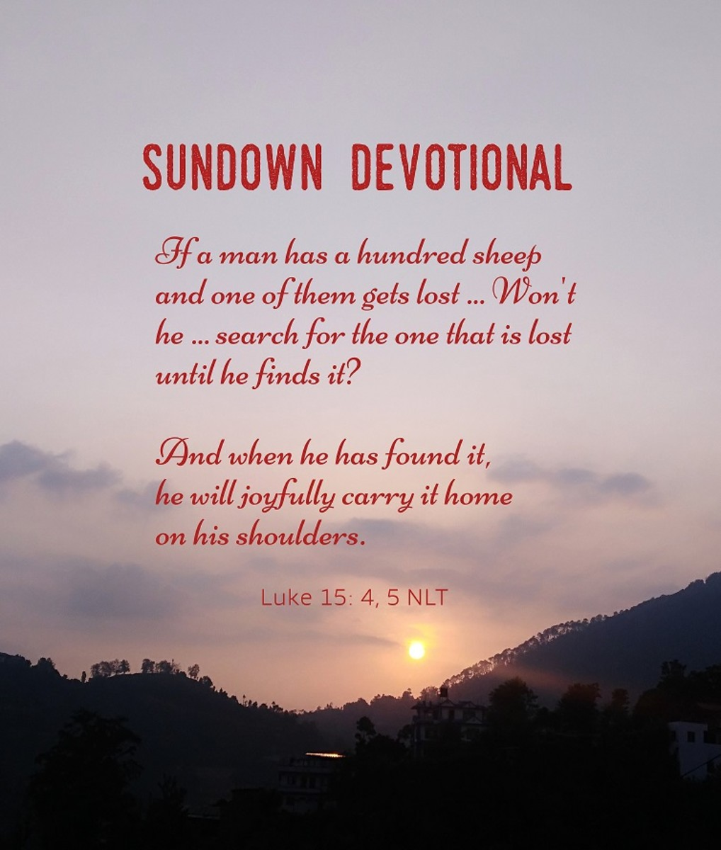 Sundown Devotional: The Sheep on God's Shoulder