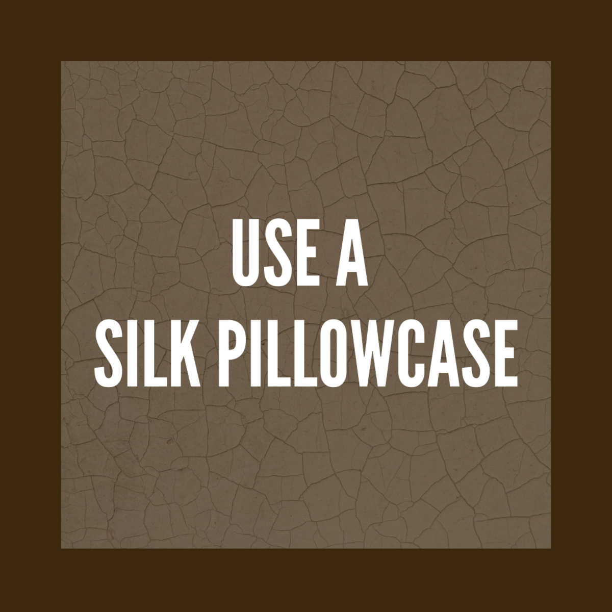 A silk pillowcase not only feels luxurious, but it can also help with acne.