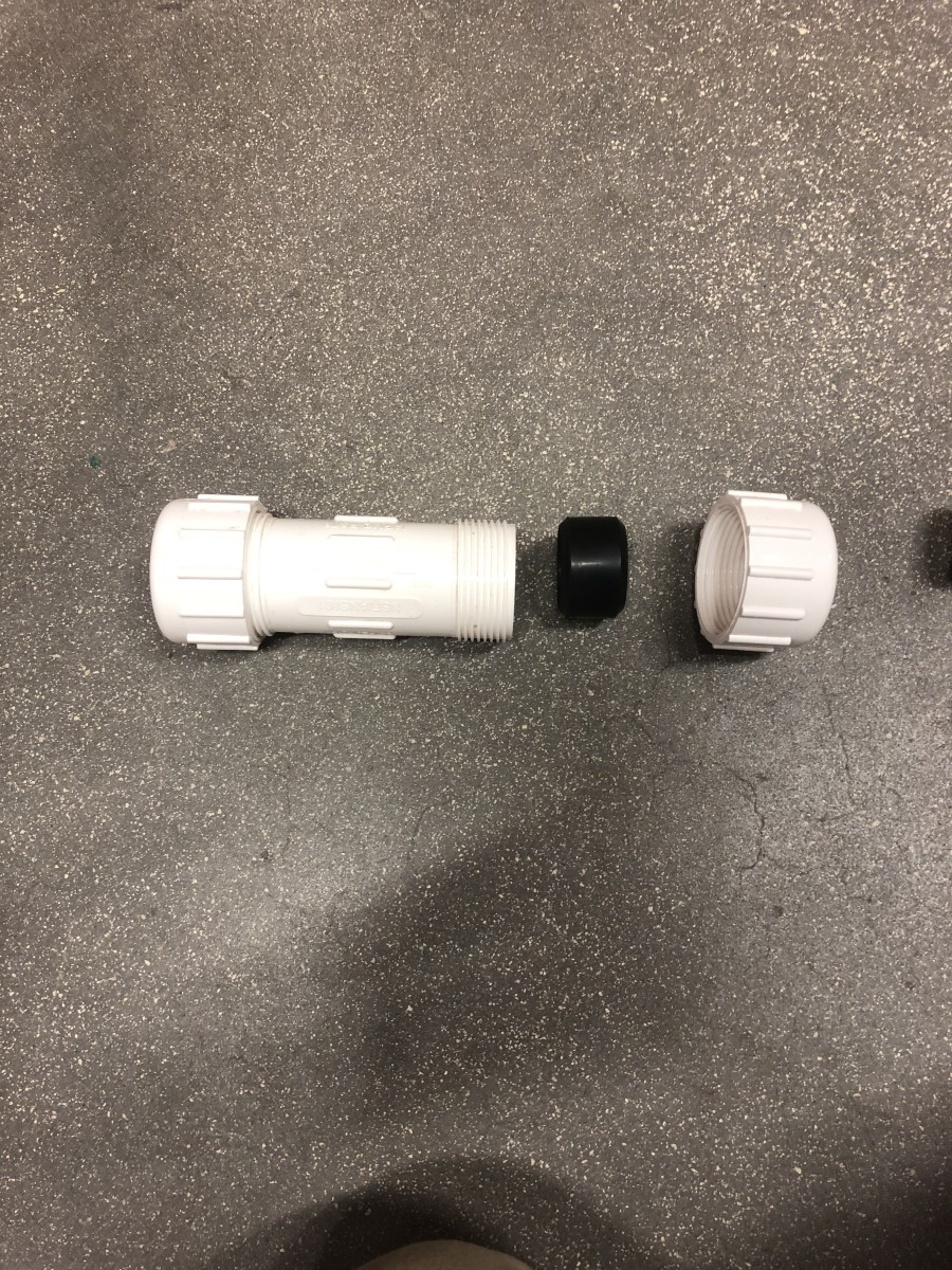 Some technicians use a PVC compression fitting as a no-cement repair fitting.