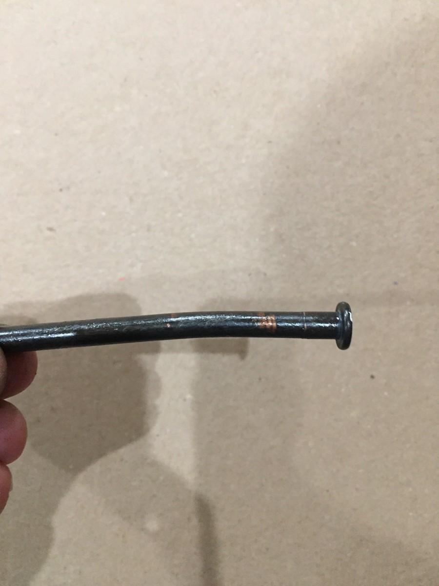 Hinge pin after adjusting.