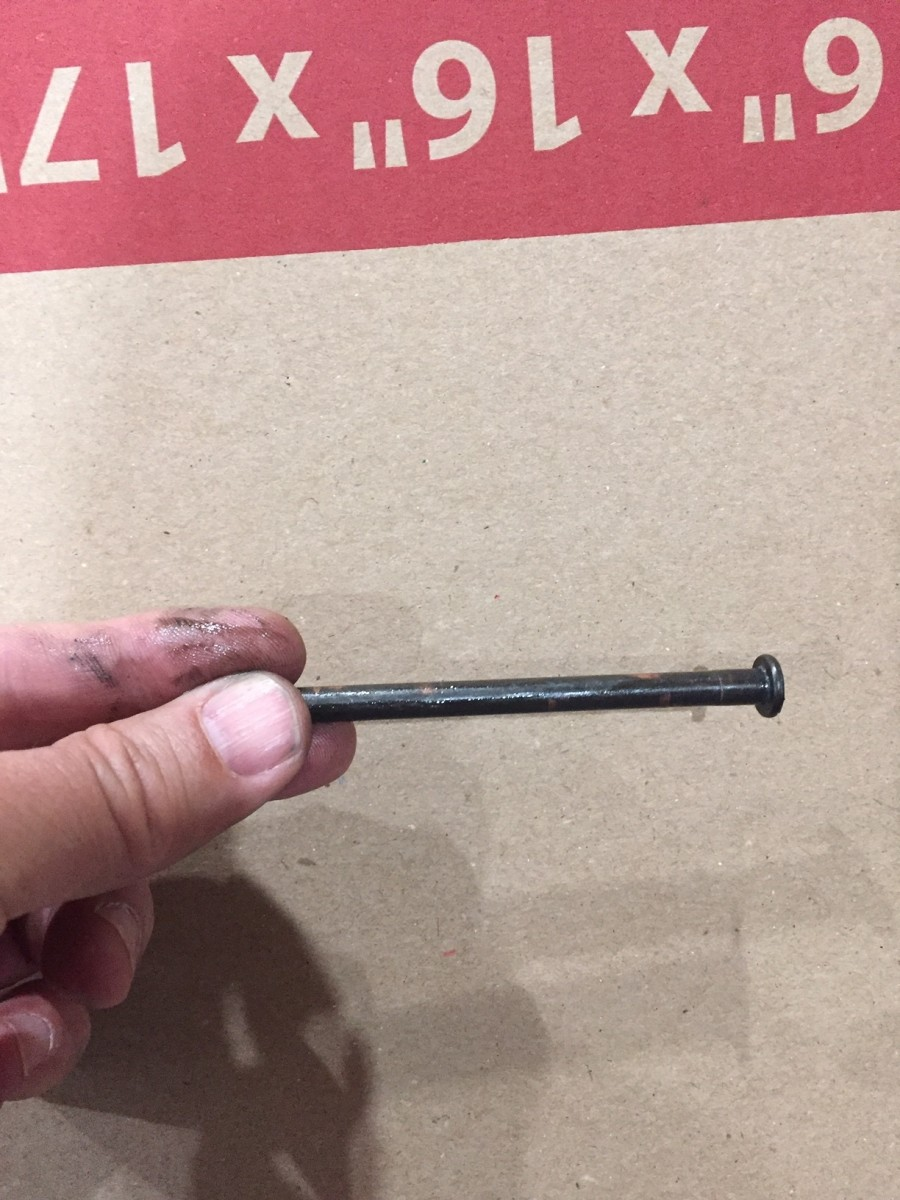 Hinge pin before adjusting.