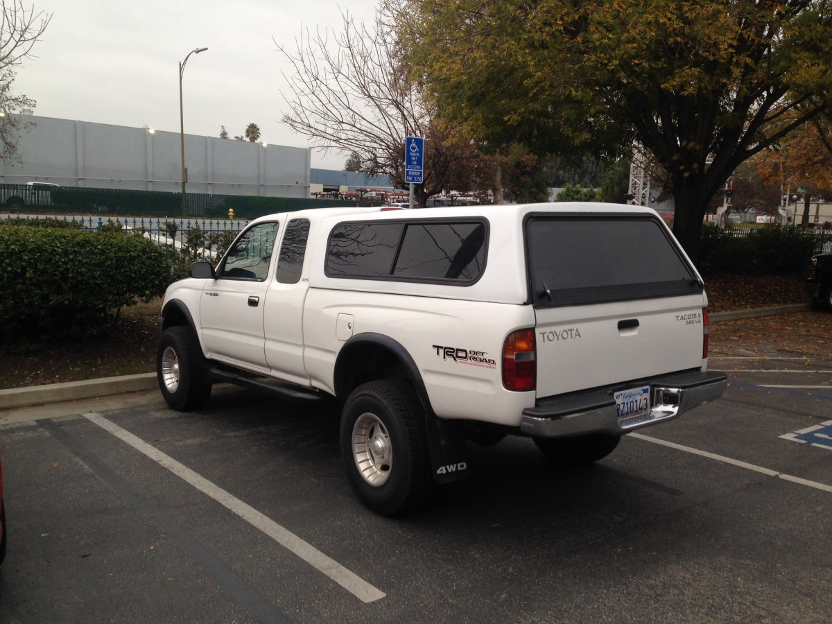 Cab high S-10 shell on a first-gen Tacoma.