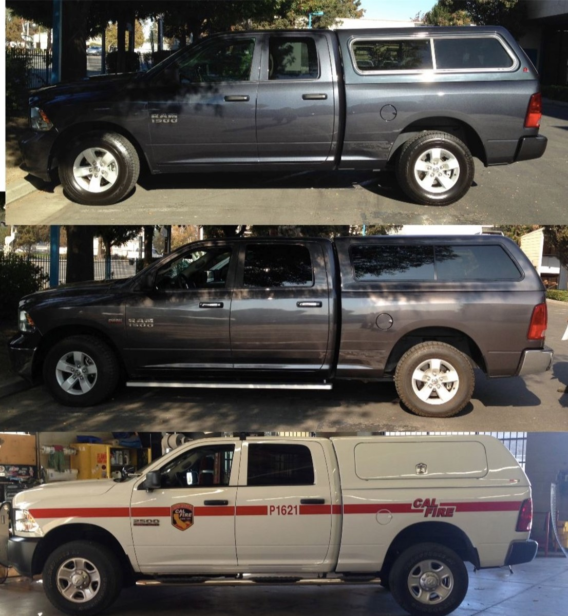 Top: 09-18 QUAD cab, short bed. Middle: Crew cab short bed-1500, Bottom: 2500 crew cab short bed. -all of these shells are different.