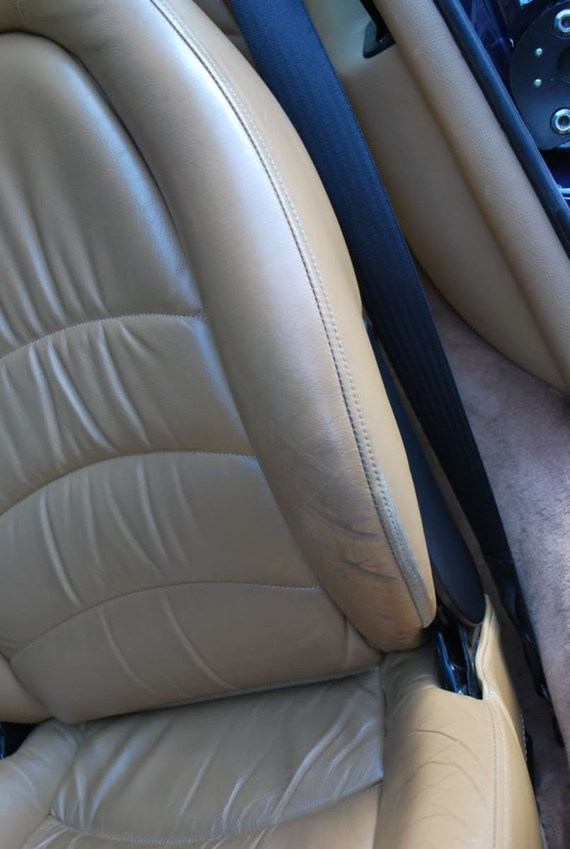 Badly worn bolster before detail
