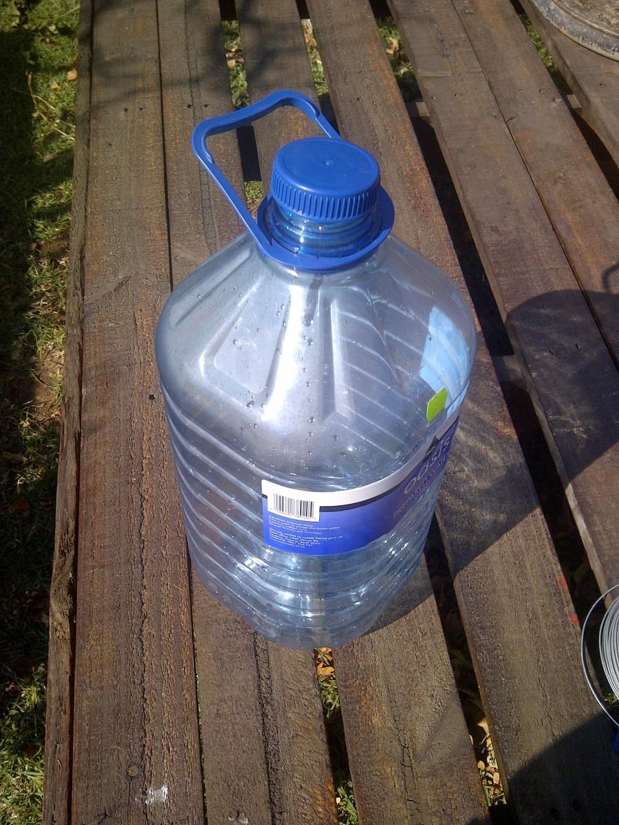 10 L empty plastic bottle