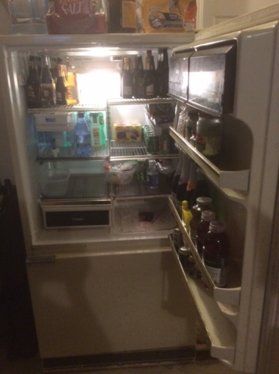 The 33 year old garage refrigerator came in handy. Yes, they used to make things that last  that long... even thoguh the door shelves were not adjustable.