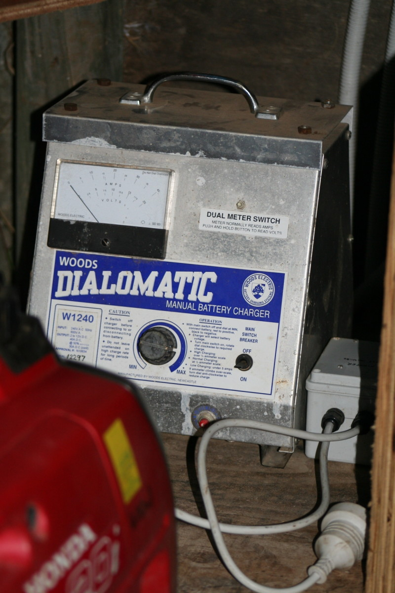 I use my generator to provide additional charge to my deep cell storage batteries, as well as directly powering my house.
