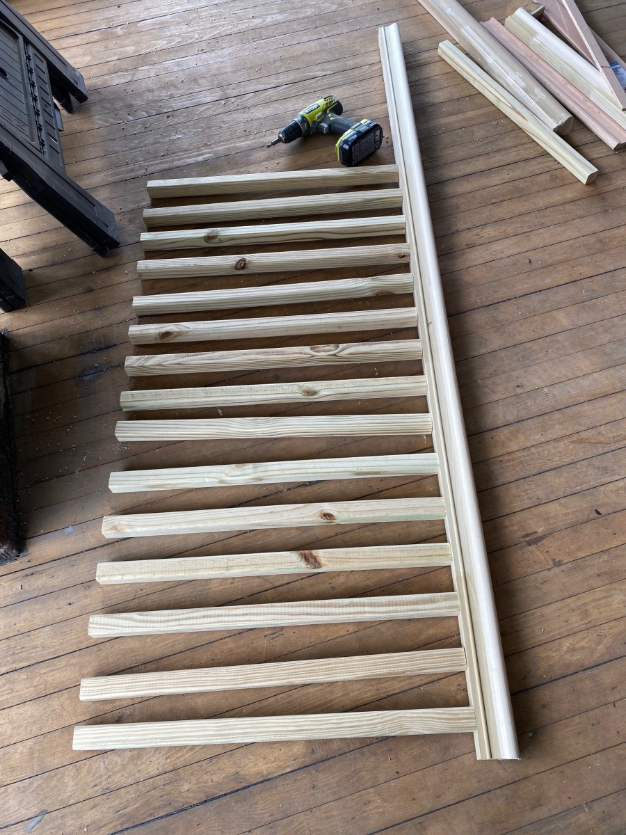 Top rail with balusters attached