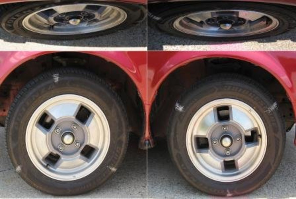 (These chalk marks may be misleading; look at the tire itself for the quiz below.)