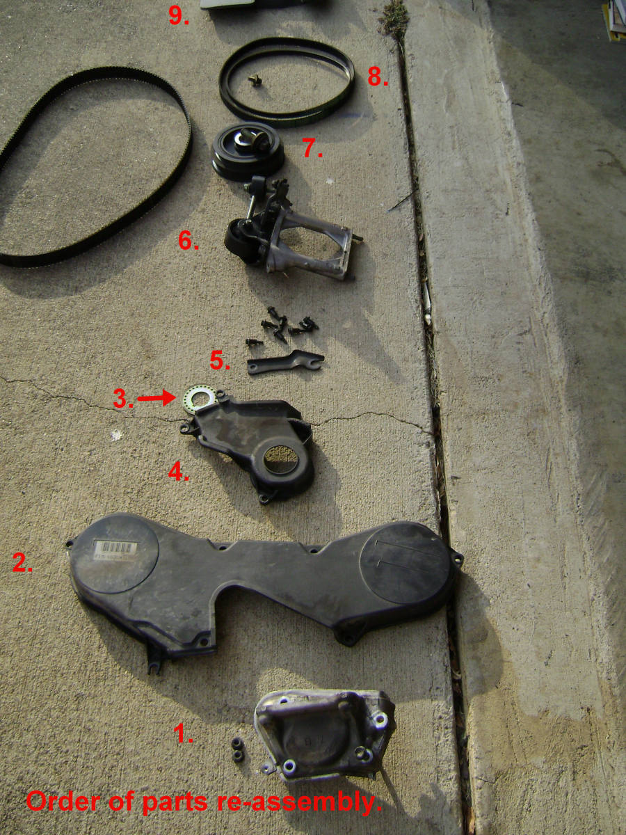 JJ. After installing the new belt, put parts back in this order.