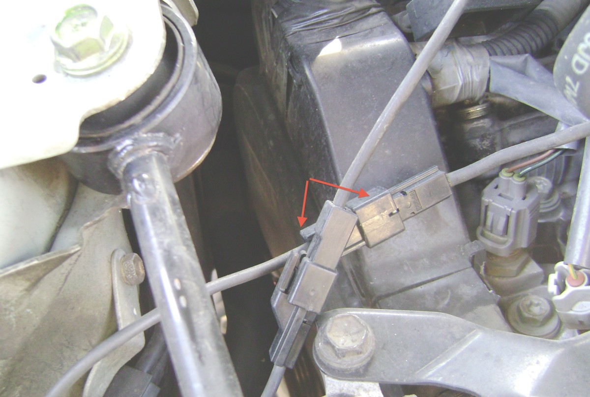 Q.  Disconnect the engine ground wire connectors.