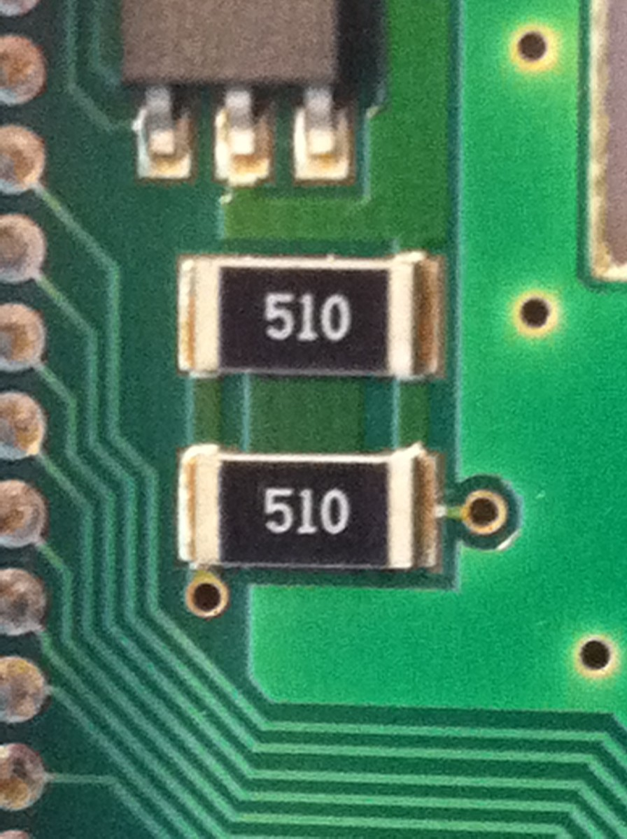 Cold-soldered resistors whose solder points fail due to age, heat, pollution and vibration.