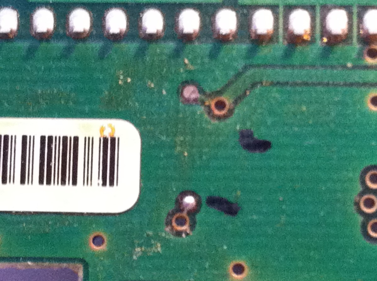 Mark the location of your target solder points to distinguish them from the rest.