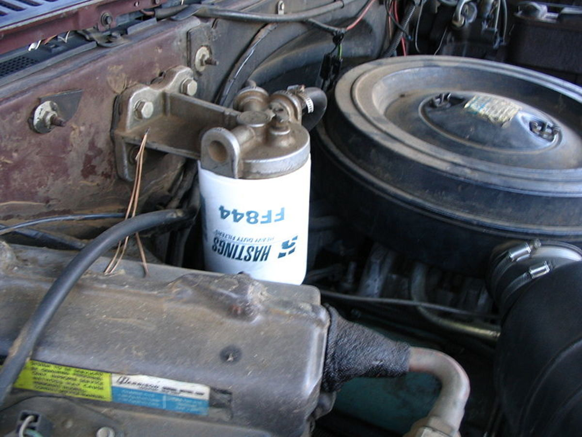 Replace the fuel filter at the manufacturer recommended interval to prevent hard to start and performance issues.