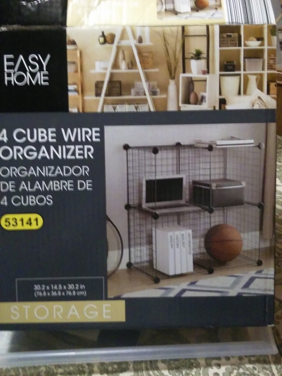 Pre-fabricated wire cube shelving