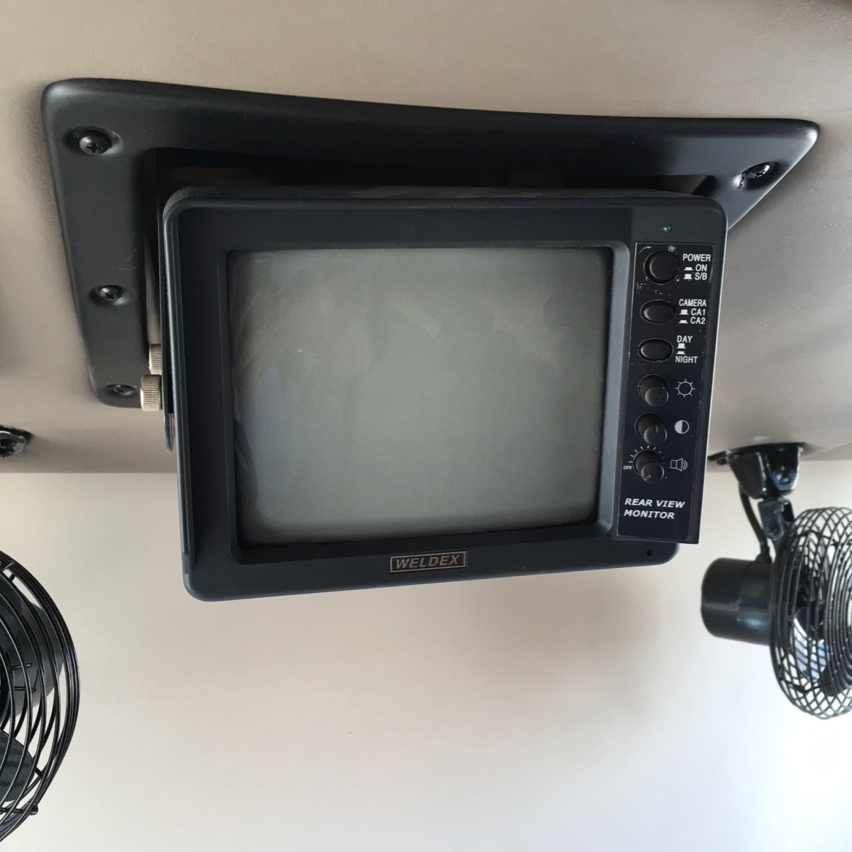 Older black-and-white rear monitor