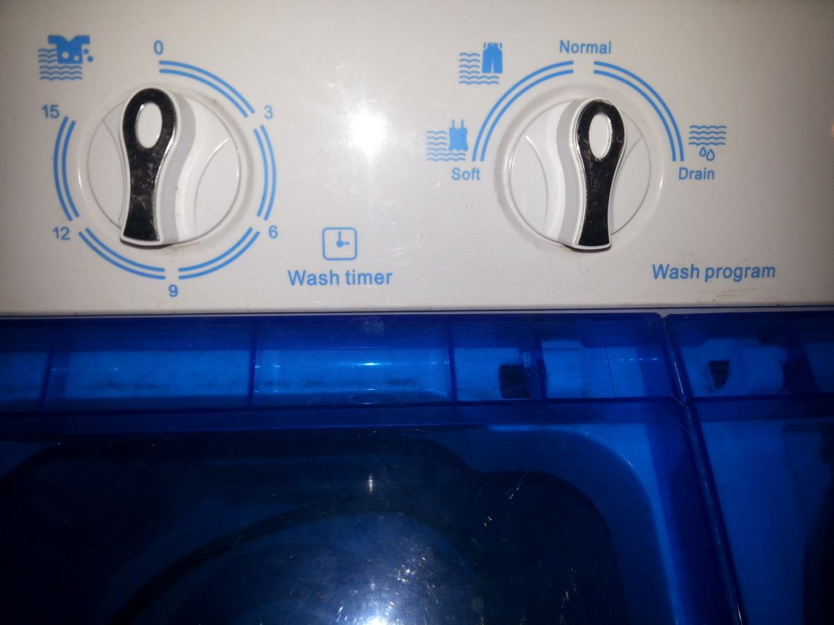 The Wash Program options on my portable washing machine are Soft and Normal. Jeans and towels are washed in a normal load. Other similar machines may offer Normal and Heavy. Either way, the job gets done.