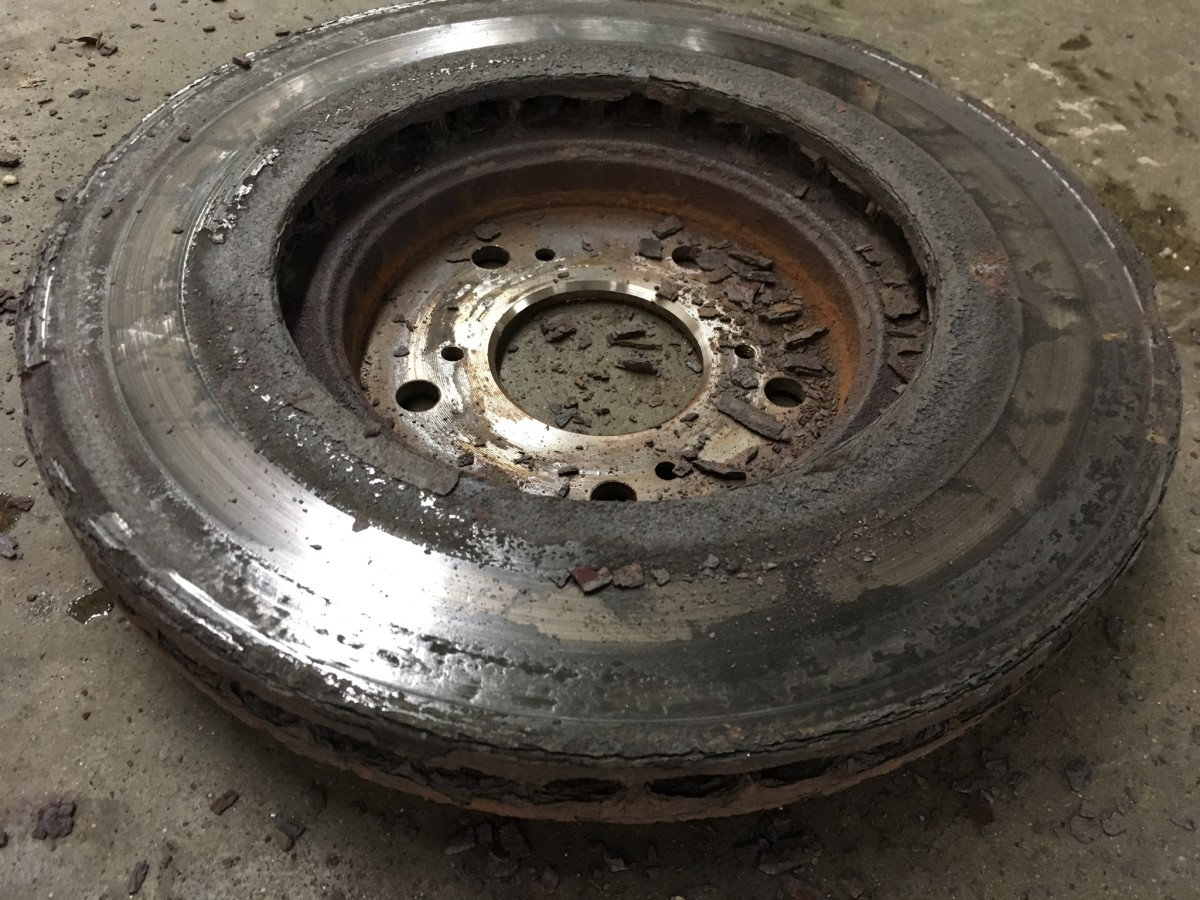 These rotors could not be resurfaced because the rust was embedded too deep.