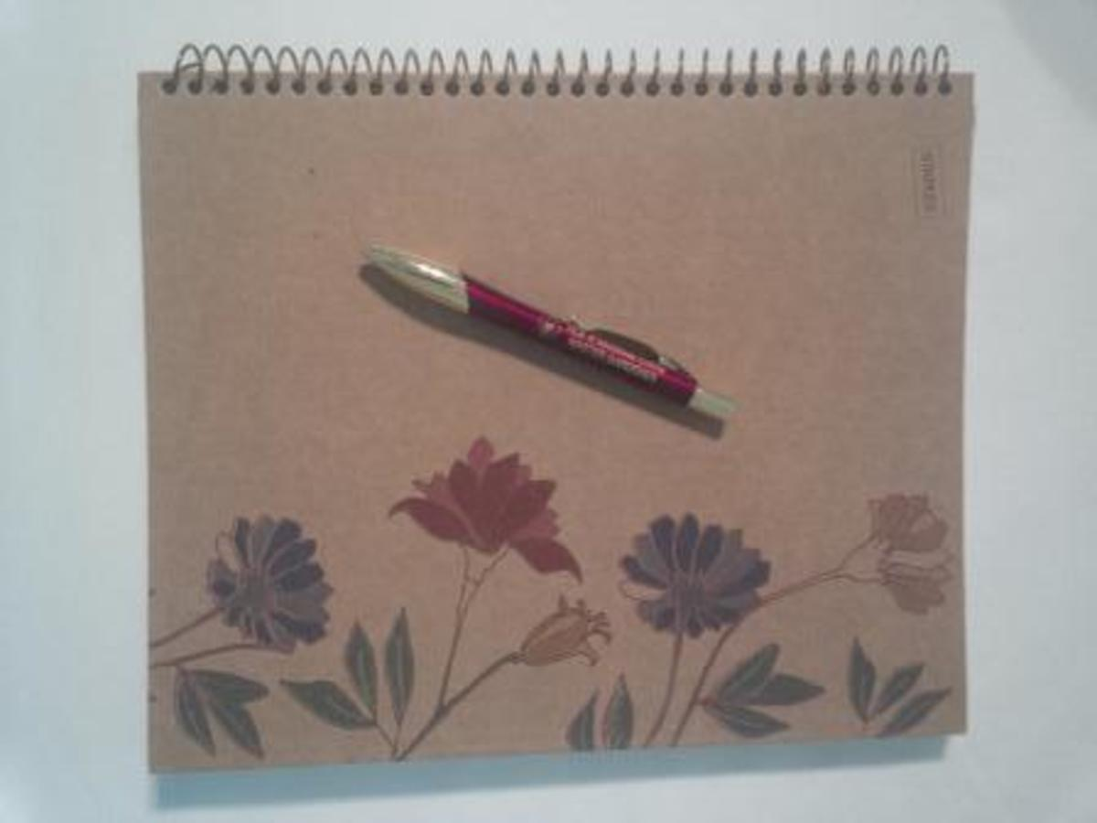 A spiral notebook is a great alternative to the expensive gardening journals available from garden supply companies.