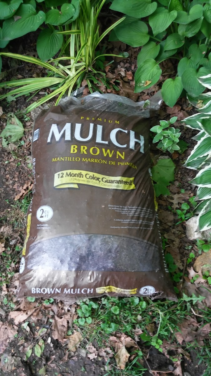 Brown mulch.
