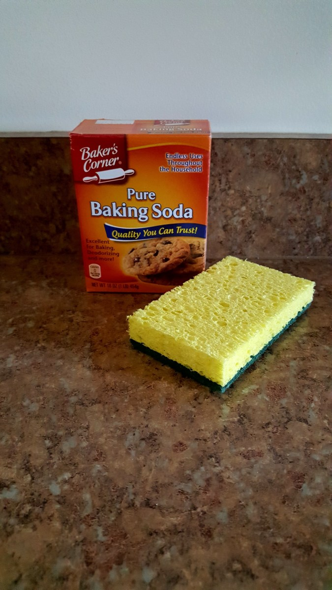Baking soda and a sponge are all you need to make your sink sparkle and shine.