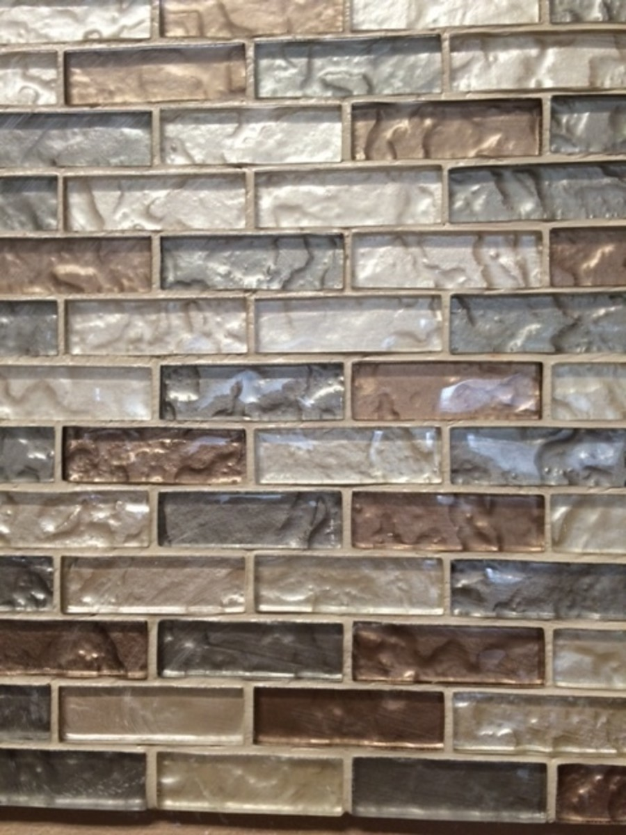 Finished close up of backsplash