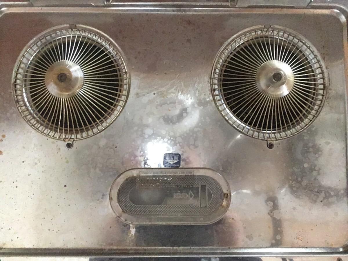 No, I am not an alien, just a dirty stove hood!