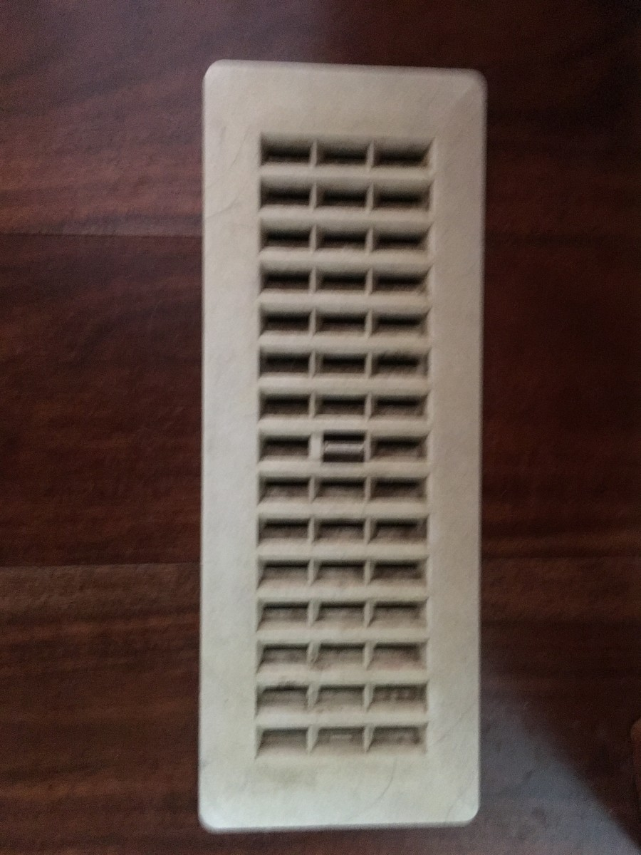 Air exchange vent, before cleaning