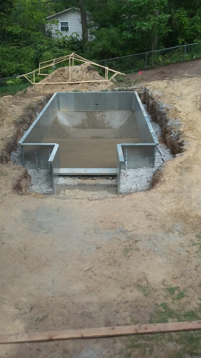 Cement floor is in.