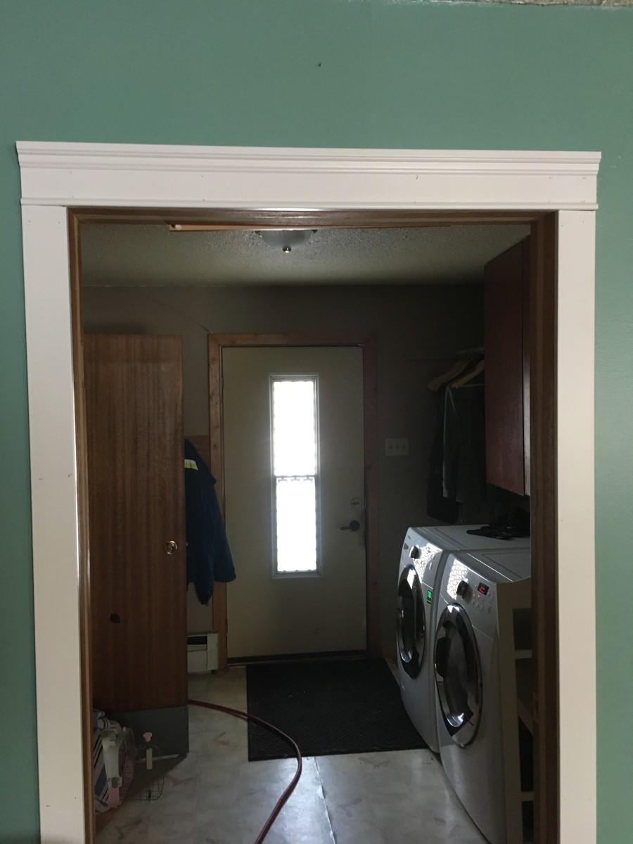 Finished Doorway trim.