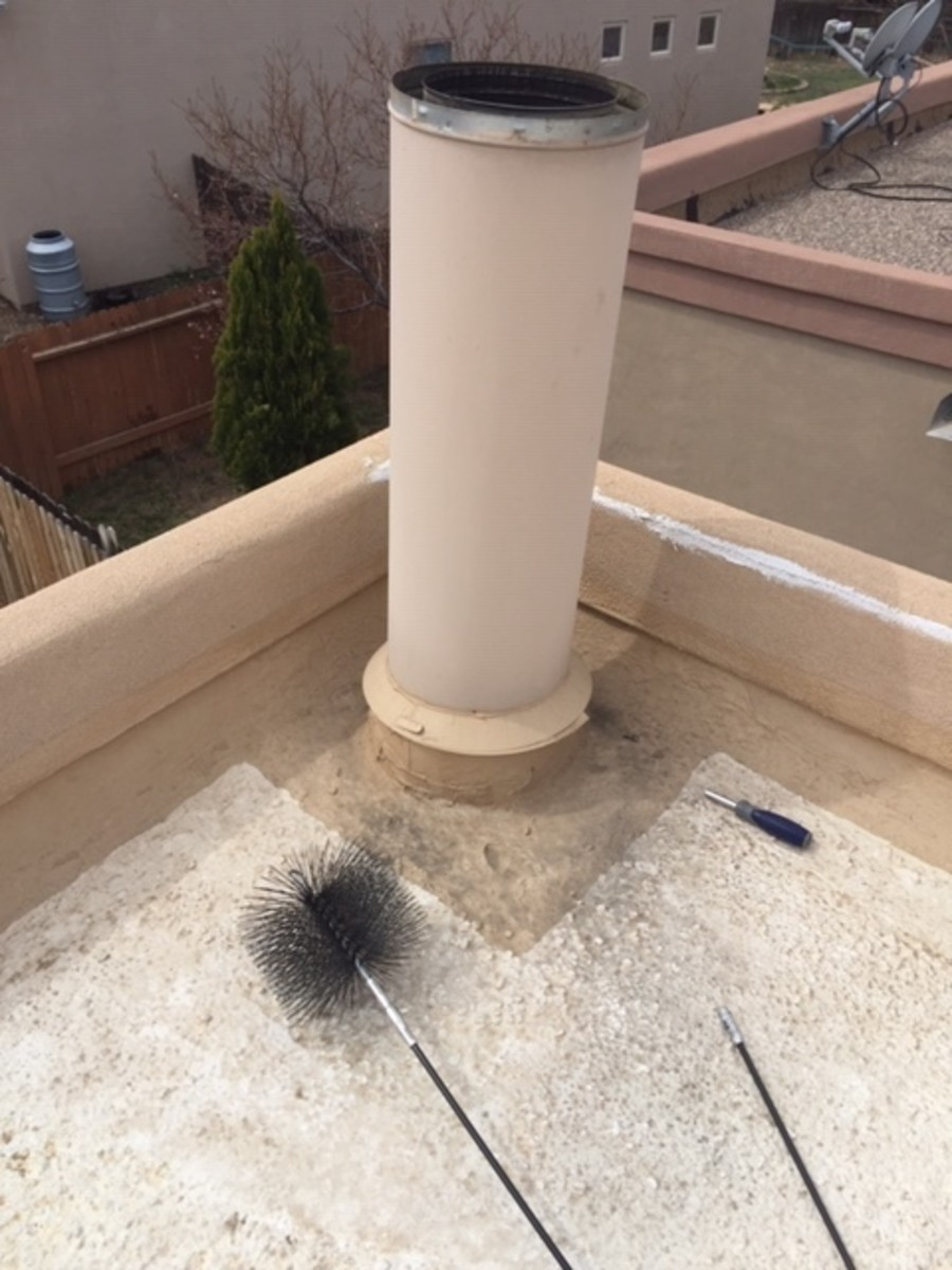 Assembled chimney brush