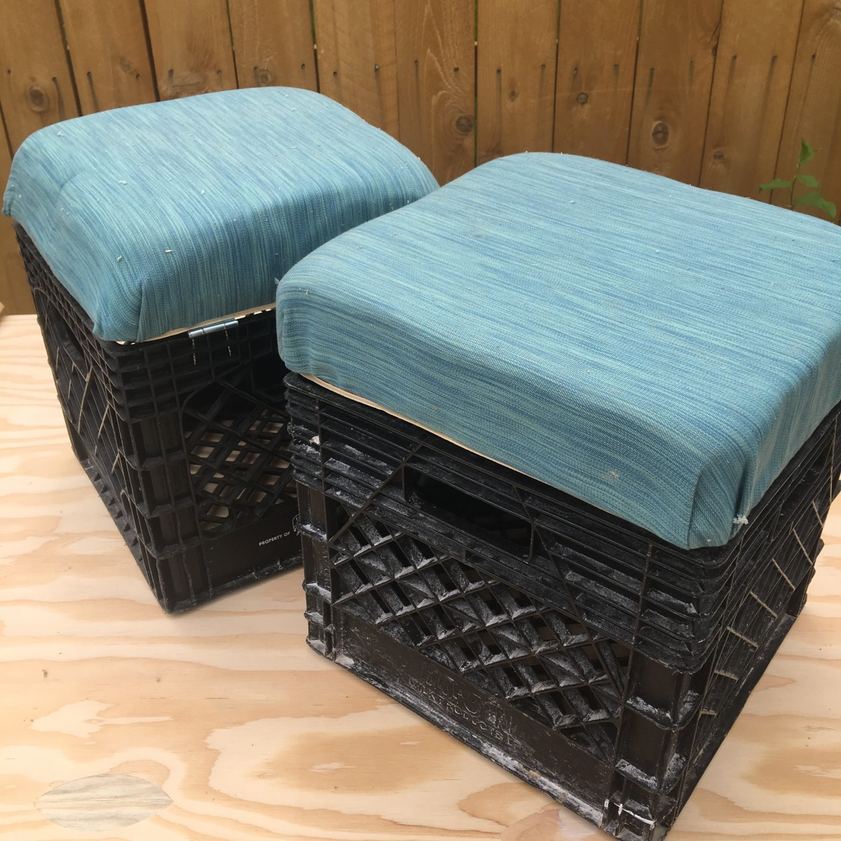 How to Upcycle a Milk Crate Into a Storage Ottoman