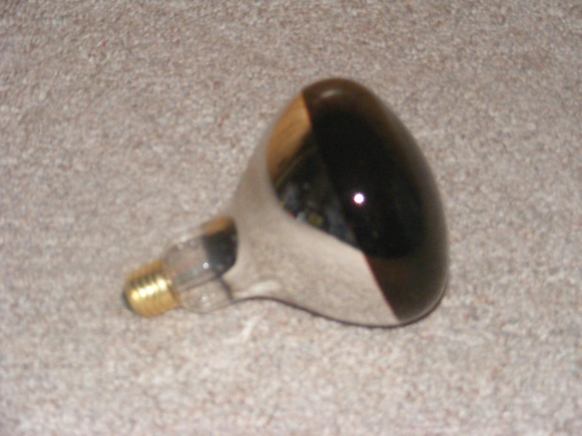 250 watt red bulb.