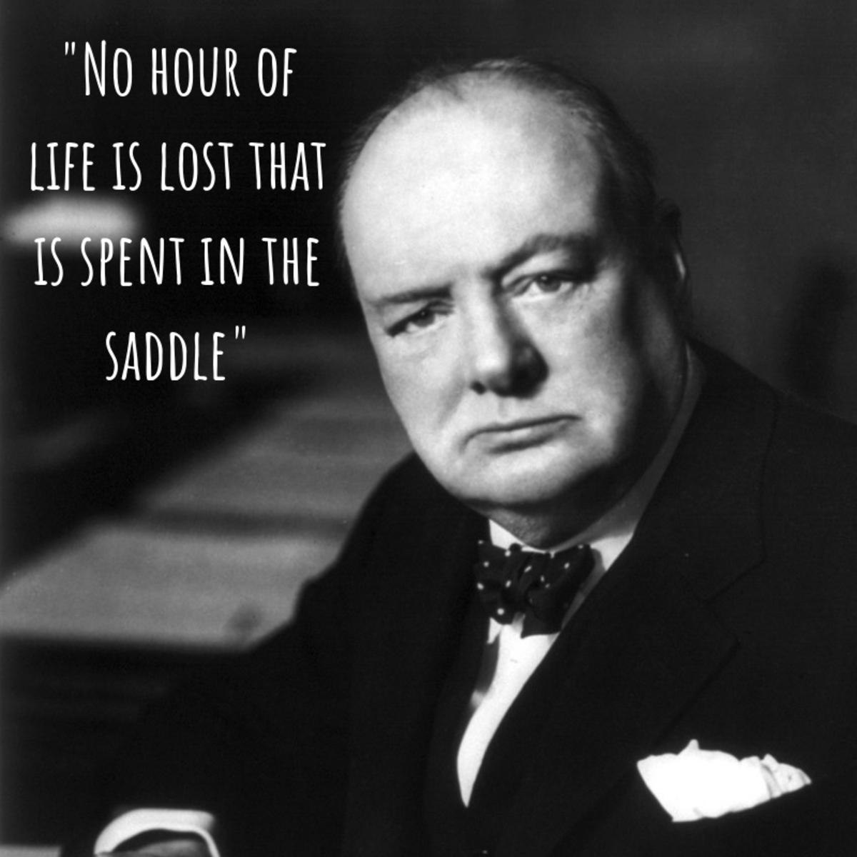 Winston Churchill on horses
