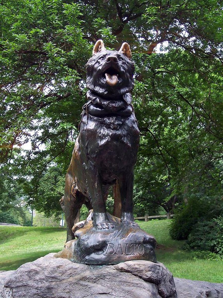 Bronze Statue in honor of Balto