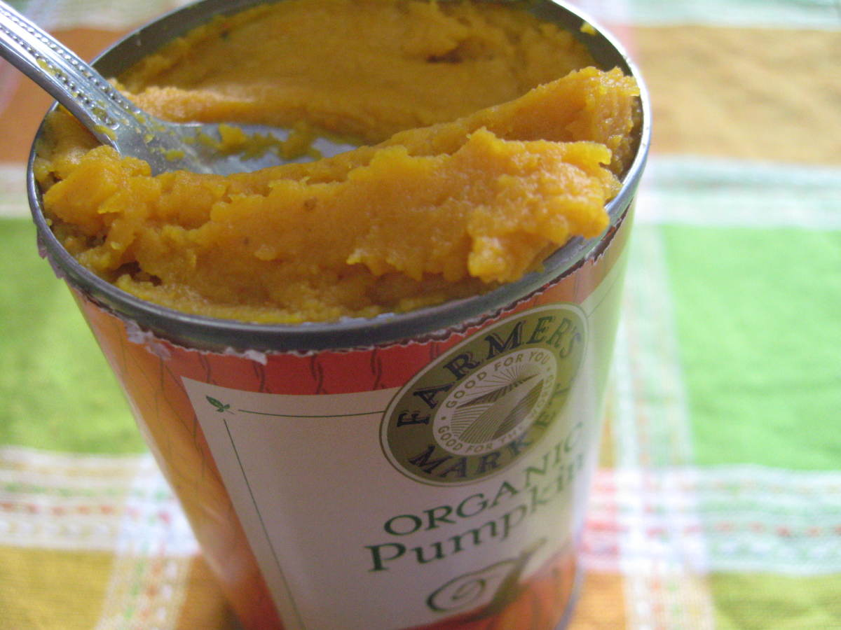Add organic pumpkin puree to dog treats for nutritional benefits, texture, and moisture. They love it!