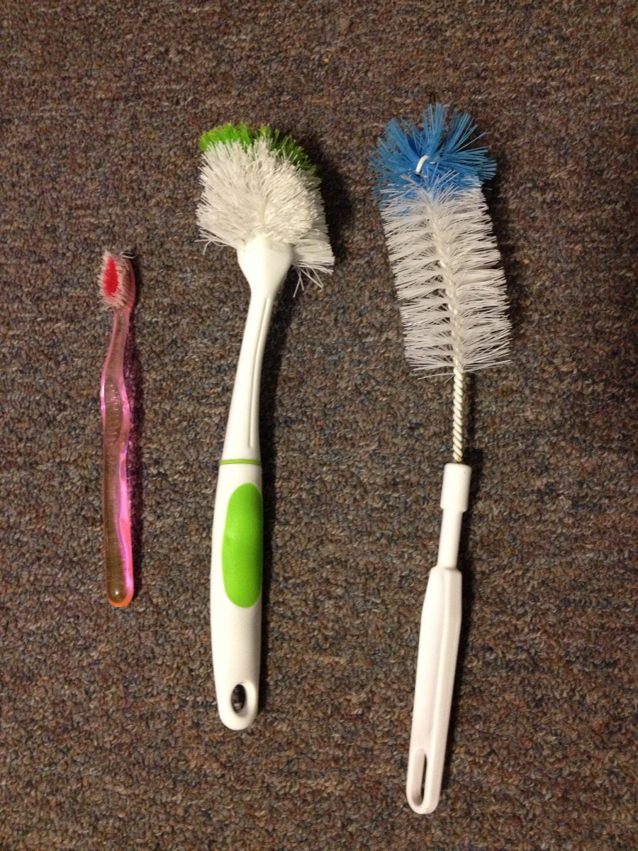 I find the toothbrush to be the most useful cleaning tool in my arsenal.