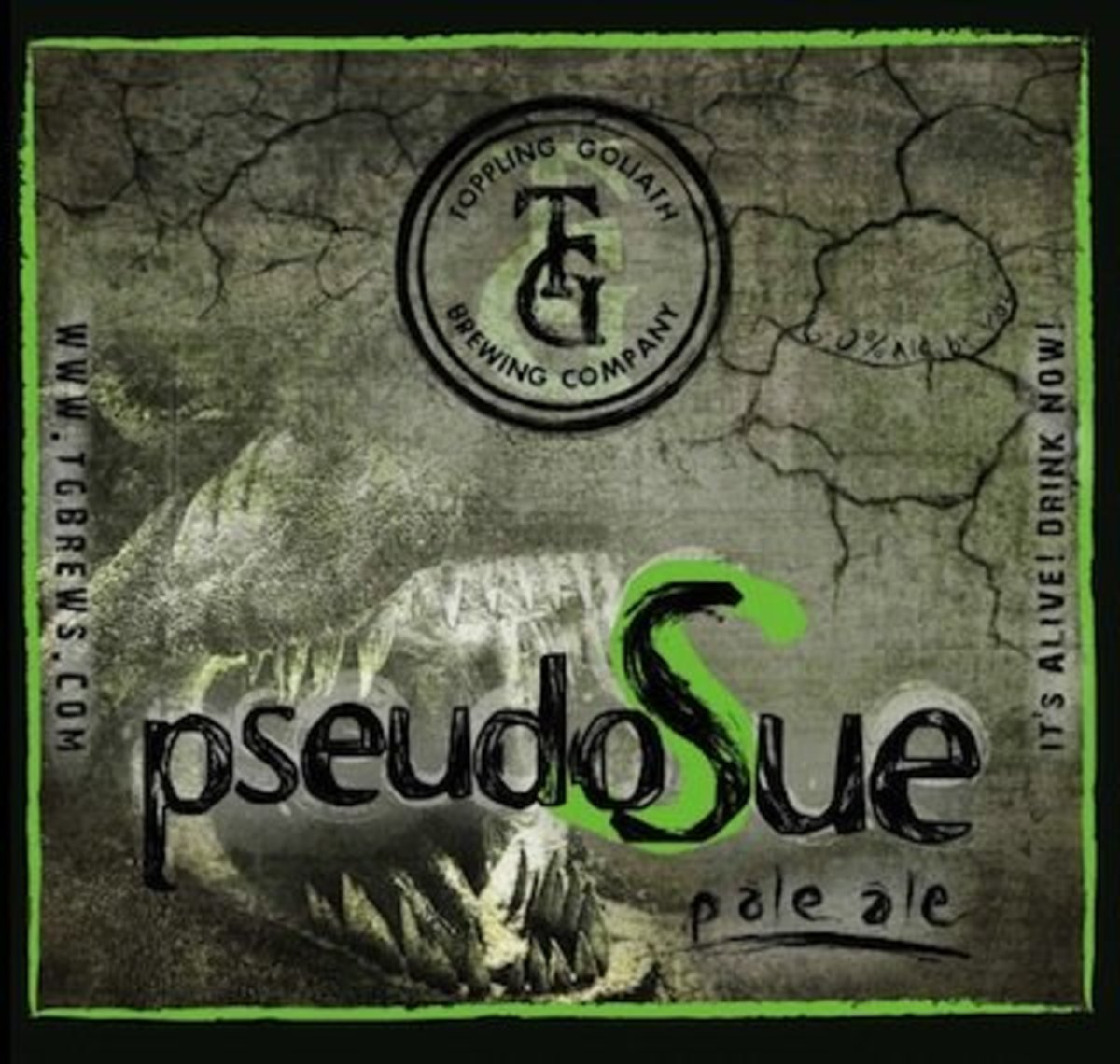 PseudoSue Pale Ale from Toppling Goliath is named after the largest dinosaur bones found to date, an excellent name for a giant breed dog.