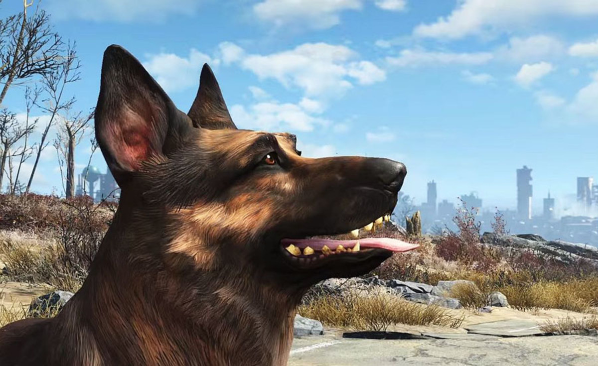 Dogmeat the German Shepherd from the Fallout Games
