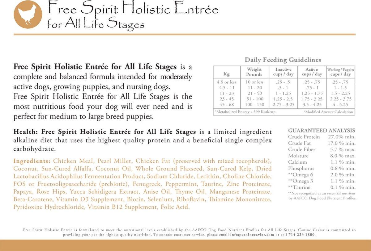 Free Spirit Holistic Canine Caviar
