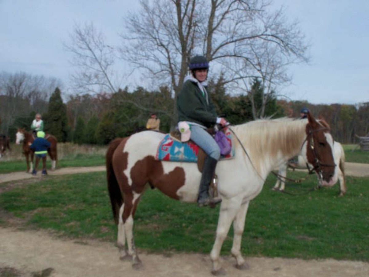 Trail riding at Gettysburg on a guided historical tour of the battlefield. There is lots to do with horses besides riding in a ring!