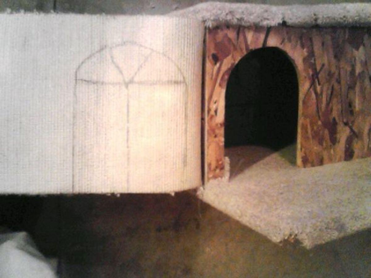 Arched door cut