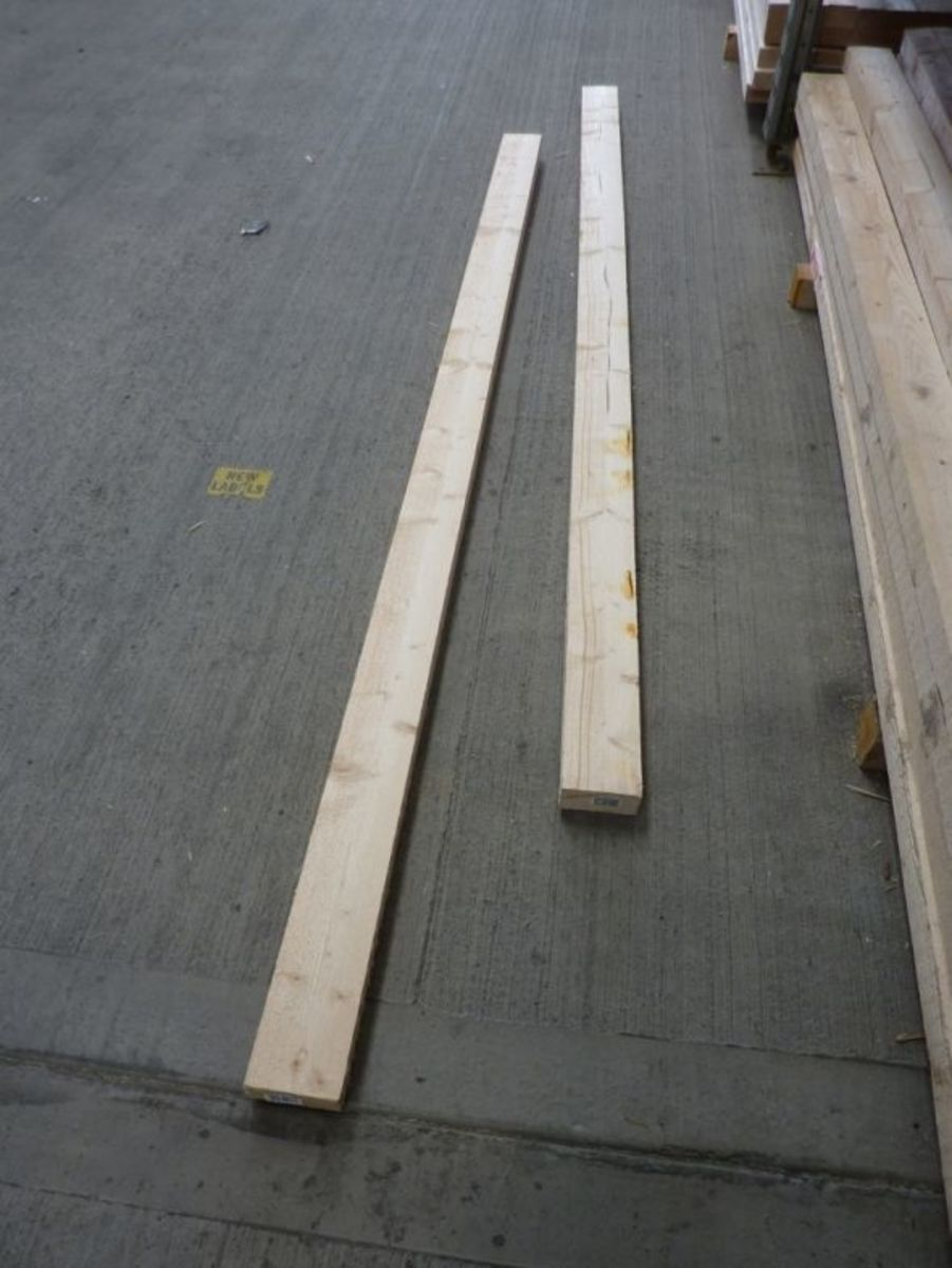 Using oblong section kiln dried timber is a cheaper option at GBP3-GBP5 depending on length.