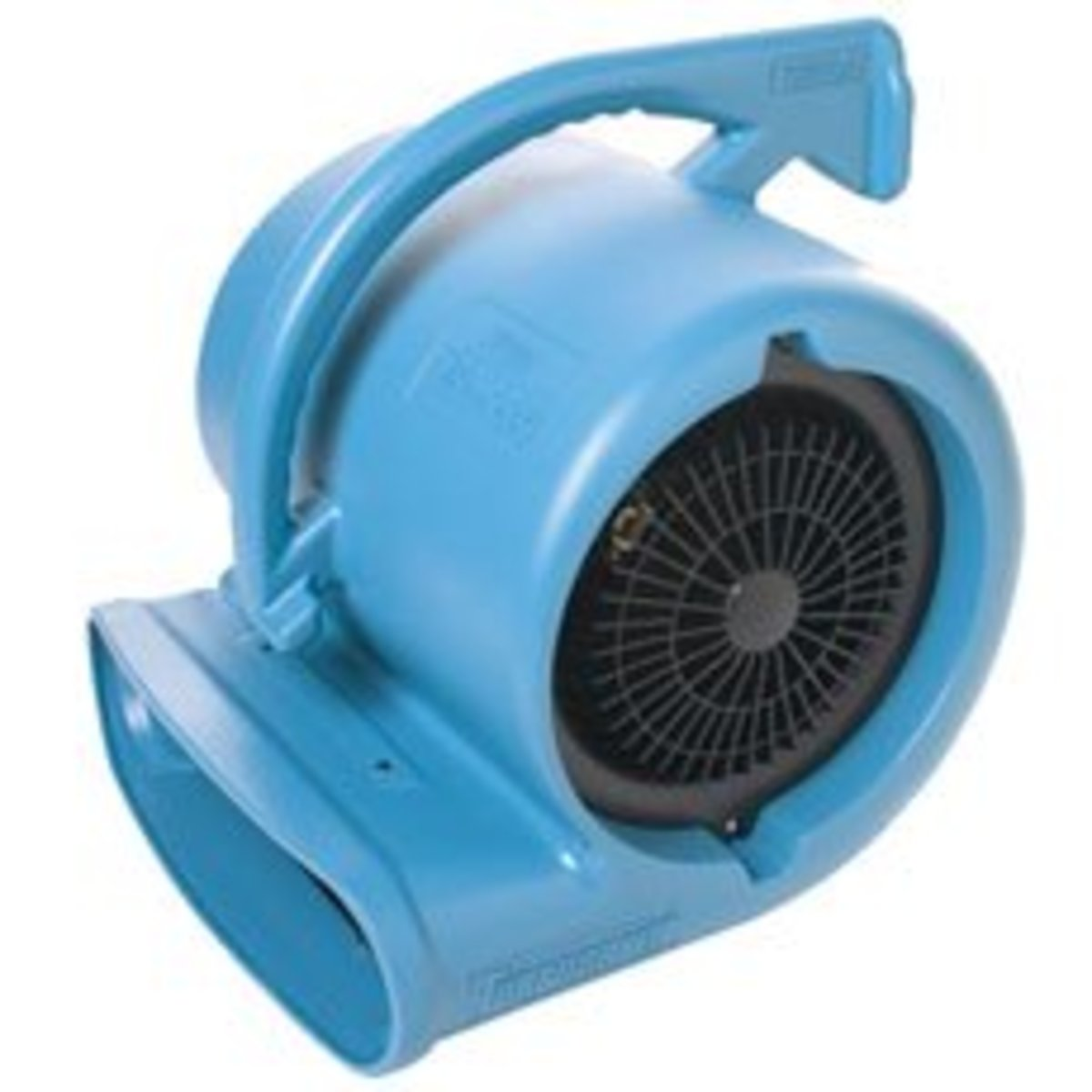 Cage dryer. Air volume: 2,250 CFM. Air speed: 2,250 FPM. Heat: warm air (no heating element).  Motor: 1/4 HP (single speed). Amps: 7.2. Volts: 110.