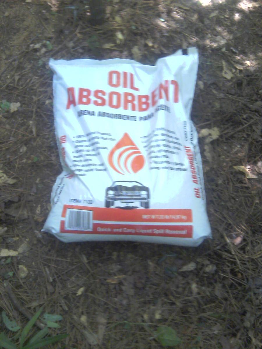 $5.99 buys 33lbs of oil Dry the cheapest kitty litter around!